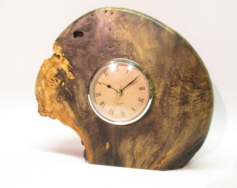 Burl Wood Clocks Etsy