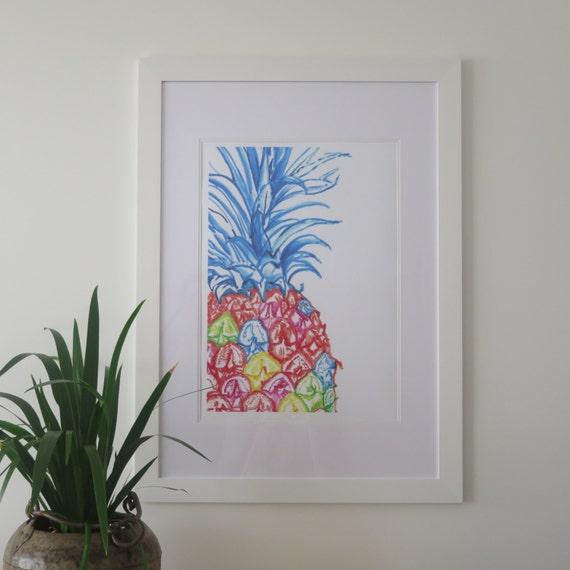 Pineapple Fine Art Print Pop Colour