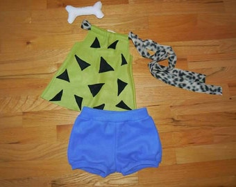 PRE-ORDER Handmade Pebbles Flintstone costume for babies and toddlers