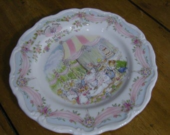 Brambly Hedge 'The Wedding' collector's plate