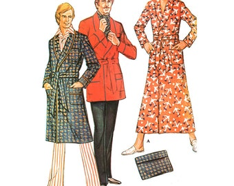 McCall's Sewing Pattern 3036 Men's Robe  Size:  38-40  Used