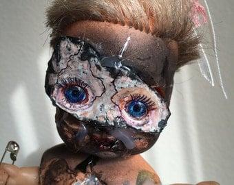 Strange Steffie and her little dolly - OOAK Bizarre Horror Art Doll
