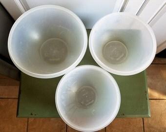 Vintage Tupperware Wondelier Sheer Nesting Mixing Bowls