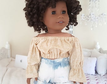 18 inch doll peasant blouse.