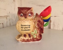 Spooning for you in Alabama Owl, Kitschy Kitchen Owl