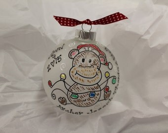 Personalized MONKEY My First Christmas Ornament For Baby