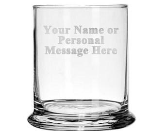 Custom PERSONALIZED Glass Candle Holder Gift Engraved Your Personal Message EP - Glass Candle Holder - CUSTOM