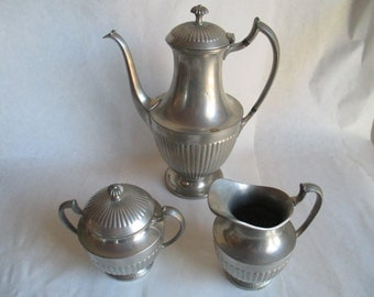 Pewter 3 Piece Set for Collectors, Reenactments, Home, Theatre Props - A Very Special Set!