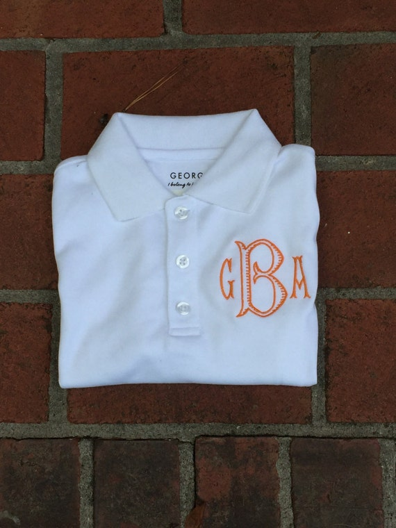 Boys monogrammed polo youth personalized polo shirt short for Personalized polo shirts for toddlers