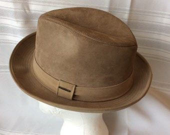 Man's Stetson Hat Genuine Leather Suede