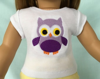 Owl T-Shirt for American Girl/18 Inch Doll