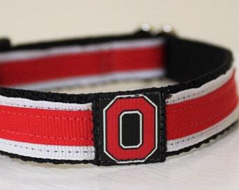 Ohio State Dog Collar/Buckeyes/Adjustable Pet Collar