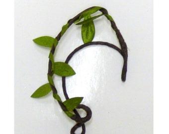 EAR CUFFS woodland style. Elvish earrings, elf ear cuffs. Green.