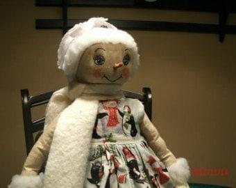 Primitive Snow Girl Doll