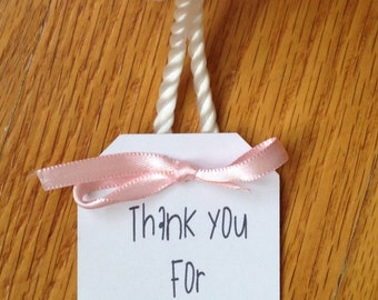 Baby Shower Thank You Tags-Set of 10