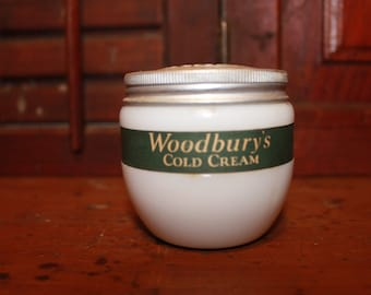 Antique Woodbury Cold Cream Jar