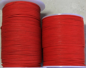 1.5mm Red Leather- 100 meters