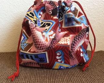 Japanese Koi Fish print bag