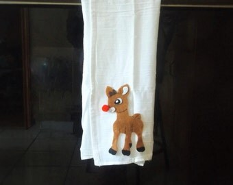 Rudolph The Red Nosed Reindeer Tea Towels