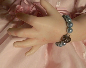 Reborn  baby doll bracelet dolls clothes in   blue