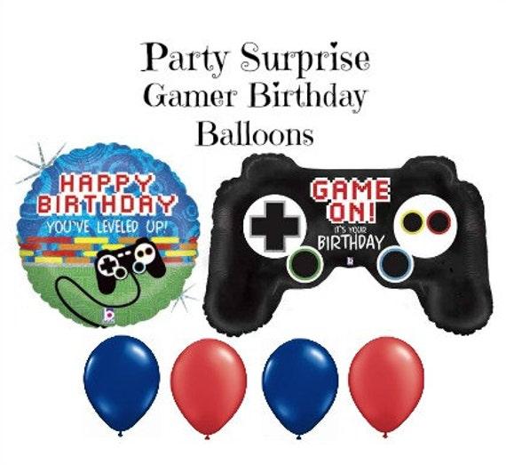 Gamer Birthday Balloons Video Games Birthday Party