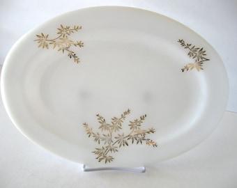 Vintage Federal Milk Glass Oval Serving Platter