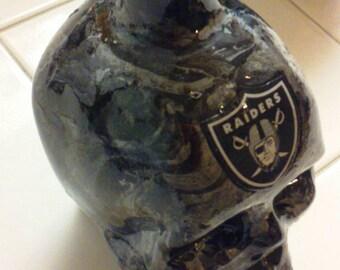 Raider Glass  skull bottle.