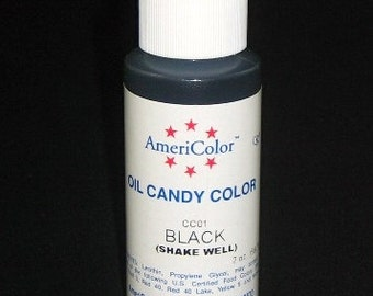 FREE SHIP Americolor Black 2 oz. Cake Decorating Candy Making Candy Color Oil- OC2-01