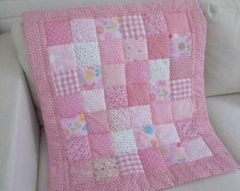 HANDMADE patchwork  Baby Quilt
