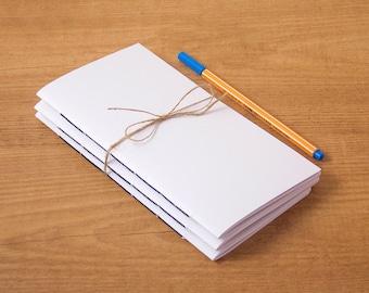 Pack of 3 notebook inserts, Midori insert, Travelers notebook, Midori notebook, Fauxdori, Midori refill, Bullet journal, Midori notebooks