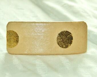 Gold Circles Barrette