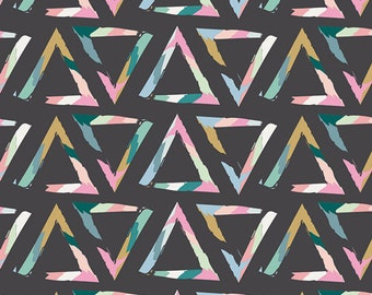 Triangle Brush Tempera Knit Fabric by Art Gallery