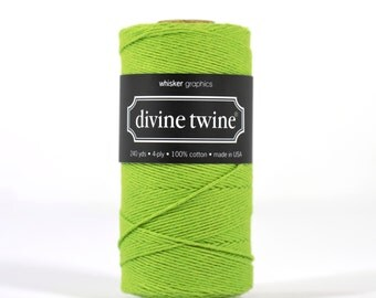 240 Yards of Bakers Twine-Solid Green-100% Cotton-Gift Wrapping-Wedding Favors-Product Packaging