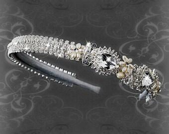 Freshwater Pearl & Crystal Headband Headpiece bridal hair accessories bridal headpiece