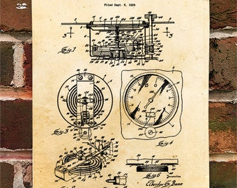 KillerBeeMoto: Duplicate of Original U.S. Patent Drawing For Vintage 1920's Altimeter Design