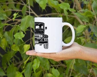 KillerBeeMoto:  U.S. Made Limited Release Japanese Four Wheel Drive Off Road Vehicle Coffee Mug (White)