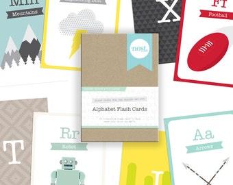 Alphabet Flash Cards - Arrows, Robots & Volcanoes