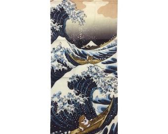 Shiba inu, Tenugui, Japanese hand towel, shiba dog, Japanese dog pattern, Hand Dyed cotton fabric, tapestry, dog lover, free shipping