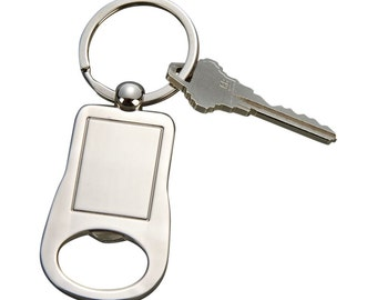 Bottle Opener, Silver Color with Free Engraving