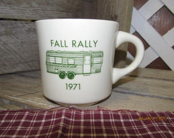 Vintage 1971 Van Wert Ohio Holiday Rambler Fall Rally Coffee Cup Mug