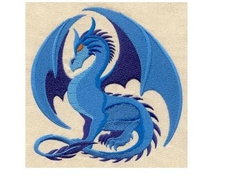 Embroidered Patch / applique - dragon any color - sew or glue on 2 sizes available
