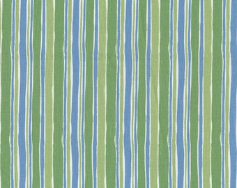 Dino Stripe Fabric - By The Yard - Boy / Retro / Fabric