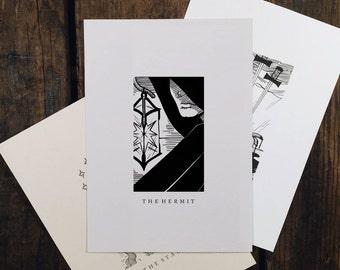 "The Hermit - 5x7"" tarot print"