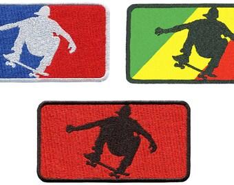 Major League Skater Patch Skate Skateboard Badge for Hat Cap Shirt Shorts Rasta