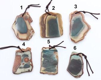 African Opal Slice Pendants YHA-014