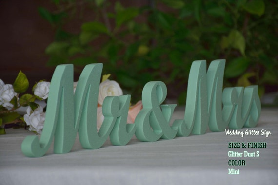 Mr mrs mint mint green wedding decorations rose gold sign like this item junglespirit Images