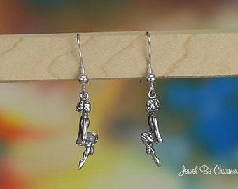 Sterling Silver Irish Dancer Earrings Pierced Fishhook Solid .925