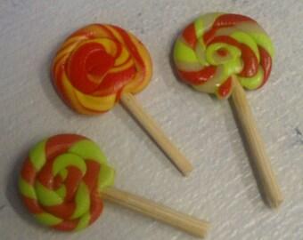 Miniature Lollipops - set of 3