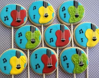 Guitar sugar cookies