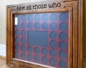 Customized Poker Chip Display Frame, fits both Casino and Harley Davidson chips, 36 chips wood insert, gift for poker player & Harley rider